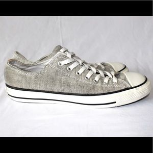 Converse light grey and white shoes
